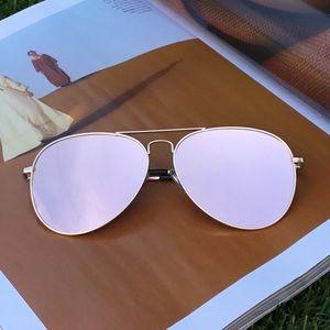 Accessories - Rose Gold Aviator Sunglasses